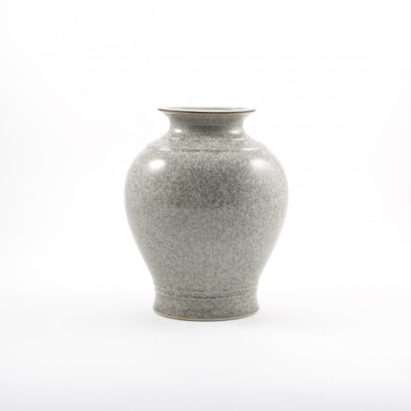 Grey Royal Copenhagen Crackle Glaze Vase