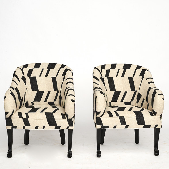 Pair of Danish art deco easy chairs